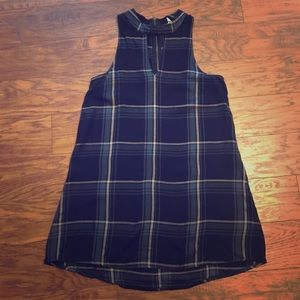 Gentle Fawn Plaid Sleeveless Keyhole Dress